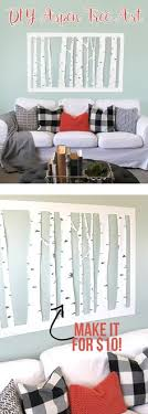 large inexpensive diy aspen tree wall art on large inexpensive wall art diy with turn a shower curtain or any big piece of fabric for that matter