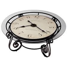 bowery hill round coffee table clock