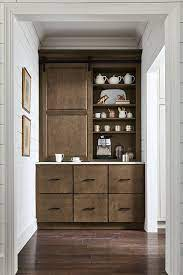Use the table's drawers, open cubbies, or shelves to hold dish towels and baskets stocked with supplies. Coffee Station Design Inspiration Custom Kitchen Cabinets Semi Custom Kitchen Cabinets Semi Custom Cabinets