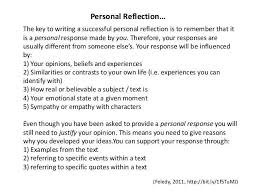 Personal Reflection Reflection Paper Self Reflection