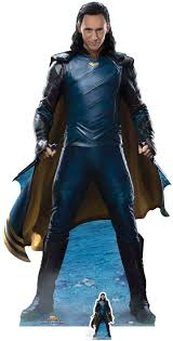 Amazon.de: STAR CUTOUTS Offizieller Marvel Loki (Tom Hiddelston),  lebensgroßer Kartonaufsteller