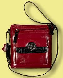 giani bernini red leather cross purse