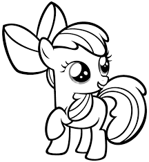 Small Picture Easy Coloring Pages For Girls My Little Pony Cartoon Coloring