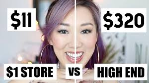 1 dollar tree makeup vs high end makeup challenge iamkareno you