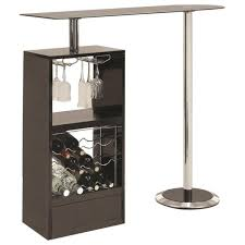Image Piece Black Bar Table With Wine Rack Bar Adams Furniture Stefan Abrams Black Bar Table With Wine Rack Adams Furniture