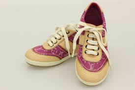 louis vuitton kids. louis vuitton monogram denim baby shoes kids children\u0027s sneakers 27(18.5cm ) fuchsia i