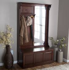 Mirror With Coat Rack Interior Excellent Storage Bench With Coat Rack Give A Simple And 43