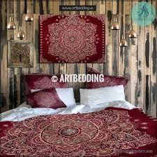 maroon bedding twin size mandala bedding burdy maroon and gold mandala duvet cover set
