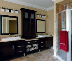 cabinets for the bathroom. espresso shaker cabinets in contemporary bathroom by kitchen craft cabinetry for the