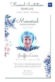Funeral Remembrance Cards Memorial Prayer Cards Template For Funerals Free