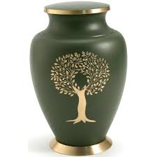 Decorative Large Urns Star Legacy Tree of Life Large Adult Brass Urn with Velvet Bag 56
