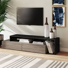 Ebern Designs Nyle Glass 60 Tv Stand Irina Tv Stand For Tvs Up To 78 Inches White Tv Unit Tvs