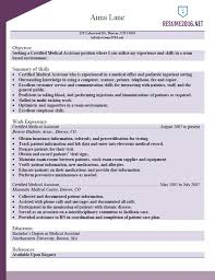 Resume Examples 2016 Resume example for medical assistant in 60 53