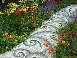 Jeffrey Baleu0027s World Of Gardens Building A Pebble Mosaic Stepping Mosaic Garden Path