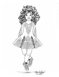 Irish Step Dancer Coloring Page Coloring Pages Pinterest