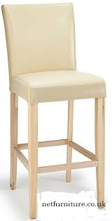 charroney cream bonded leather kitchen breakfast bar stool fully assembled with padded seat