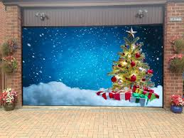Christmas Garage Door Covers 3d Banners Holiday Outside Decorations Outdoor  Home Decor GD50