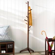 Traditional Dark Walnut Finish Wood Coat Rack Magnificent Lily Tree 32 Pegs Coat Rack Reviews Birch Lane