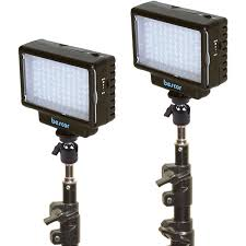 bescor led 70 daylight studio 2 light kit