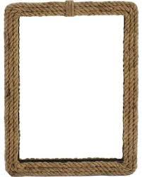 Rectangular Wood Wall Mirror - Rope Frame (Set of 2)
