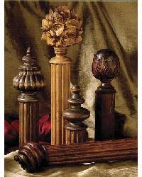 Carved Wood Curtain Rods 3 Inch