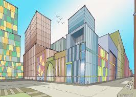perspective drawings of buildings. Drawn Building Perspective Town #14 Drawings Of Buildings