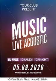 invitation flyer live music acoustic poster design temple live show modern party dj invitation flyer