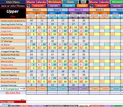 Workout Spreadsheet Excel Spreadsheet Workout Manager For P90x Plus