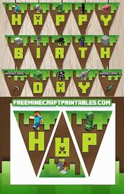 homey inspiration minecraft images printable free printables boy birthday party ideas themes free for your see more at catchmyparty boybirthday of