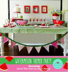 Fun Watermelon-themed Summer Party Ideas + Inspiration: 5 Blogs 1 Theme!