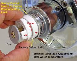 Hot Water Heater Setting Hot Cold Valve Solar Water Heater Valve Adjust The Mixing Water