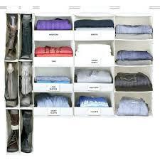 4 shelf hanging closet organizer no sag hanging essential 4 shelf closet organizer bedroom ideas for