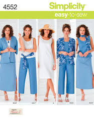 4552 Simplicity Pattern Misses And Plus Size Separates With Kimono