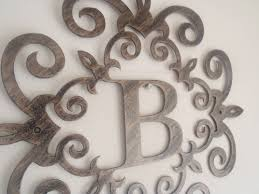 wall decor initial letter b wall decor ideas for home decor metal inside most recent on wall art letter b with view gallery of monogram metal wall art showing 8 of 20 photos