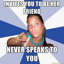 Annoying Facebook Girl   Meme Generator via Relatably.com