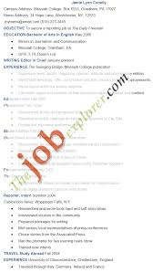 Cover Letter Journalist Resume Sample For Journalism News Reporter