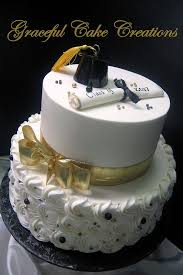 Black And Gold Graduation Cake With Cap And Scroll Grad Party