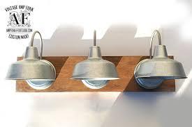 galvanized lighting fixtures. Beautiful Industrial Bathroom Lighting Vanity Light Galvanized Fixtures R