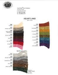 Vanna White Yarn Color Chart Heartland Yarn Color Card Color Card Yarn Colors Color