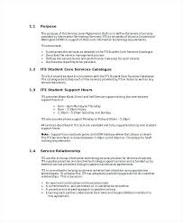 Human Resources Service Level Agreement Template Unique Fresh ...