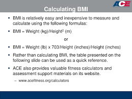 Ace Bmi Chart Ppt Ace Personal Trainer Manual 4 Th Edition Chapter 8
