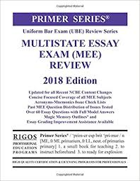 rigos primer series uniform bar exam ube review multistate essay  rigos primer series uniform bar exam ube review multistate essay exam mee 8th edition