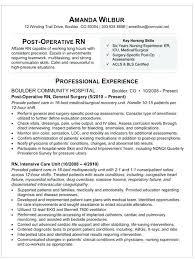 Nursing Resume Sample Experienced Nurse Examples Registered