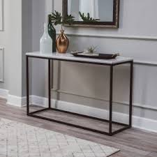 Black console table Tall Belham Living Sorenson Rectangle Console Table With Marble Top Hayneedle Black Console Tables Hayneedle