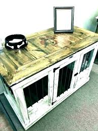 dog crate side table diy house coffee