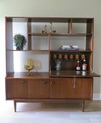 mid century modern wall unit room divider secretary cabinet drop leaf desk or