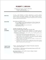 Writing A Good Objective On A Resume – Amere