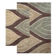 chesapeake merchandising davenport tan two piece bath rug set hover to zoom