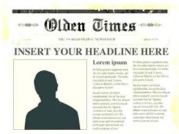 Free Newspaper Article Template Word News Report Example For