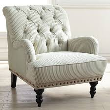 Armchair Upholstery Chas Gray Blue White Seersucker Armchair Pier 1 Imports